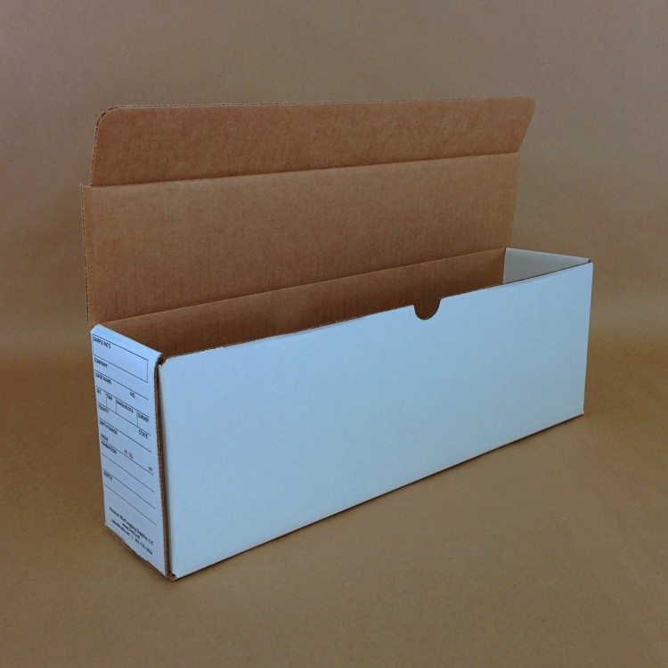 Sample Boxes 100-Pack  Heavy corrugated construction. Die-cut, shipped flat. Interlocking assembly. No tape or stapling required. Safe for stacking.