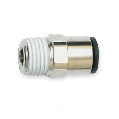 "Q.C. Male Connector. 1/4"" NPT, 1/4"" Tube Quick Connect Male Connector. 1/4"" NPT, 1/4"" Tube"