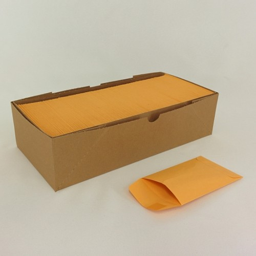 "Sample Envelope (Gum-Top) 500/Box Sample Envelopes (Gum-Top) Box of 500. 3"" x 4-1/2"" 24lb Kraft envelopes."